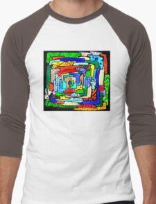 From the Center I Men's Baseball ¾ T-Shirt