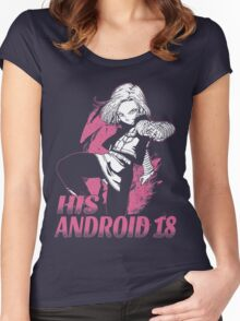 Super Saiyan His Android 18 Shirt - RB00499 Women's Fitted Scoop T-Shirt