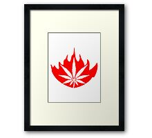 Fire burning flame weed Framed Print