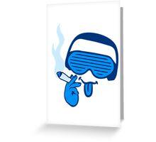 DJ music joint headphones glasses Greeting Card