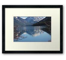 Mtn Reflections II - Wallowa lake OR  Framed Print