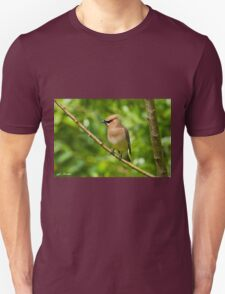 Cedar Waxwing Gathering Nesting Material Unisex T-Shirt