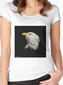 Bald Eagle Looking Skyward Women's Fitted Scoop T-Shirt