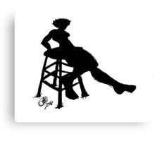 Painted Lady Silhouette Canvas Print