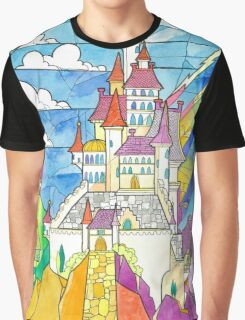 Beauty and the Beast Castle Graphic T-Shirt