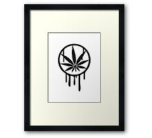 Cool Weed Stempel Design Framed Print