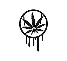 Cool Weed Stempel Design Photographic Print