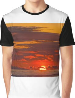 Sunset Over the Pacific Ocean Graphic T-Shirt