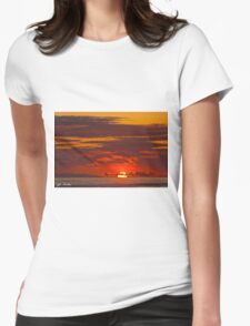 Sunset Over the Pacific Ocean Womens Fitted T-Shirt