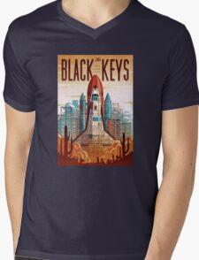 Black Keys Mens V-Neck T-Shirt
