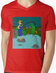 fishing Mens V-Neck T-Shirt
