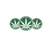 Cool Weed Logo Design Photographic Print