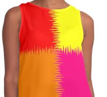 QUARTERS (Red, Orange, Fuchsia & Yellow)-(5525 x 6500 px) Contrast Tank
