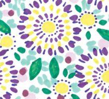 Purple Sunflowers Sticker