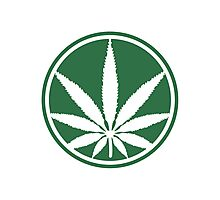 Cool Weed Logo Photographic Print