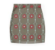 Seamless abstract pattern on brown Mini Skirt