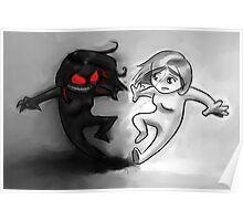Painted Yin and Yang Chibi Cartoon Poster