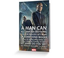 Marvel Agents of SHIELD Inspirational Poster Greeting Card