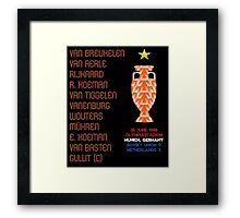 Netherlands 1988 Euro Winners Framed Print