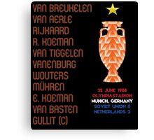 Netherlands 1988 Euro Winners Canvas Print