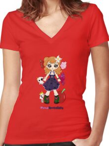 Pinup Rockabilly by Lolita Tequila Women's Fitted V-Neck T-Shirt