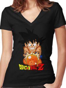 Goku V2 Women's Fitted V-Neck T-Shirt