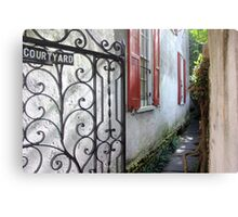 Charleston Courtyard Alley Canvas Print