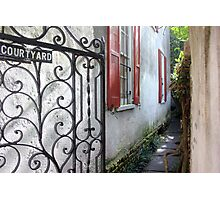 Charleston Courtyard Alley Photographic Print