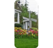 Tulip and Windmill Garden iPhone Case/Skin