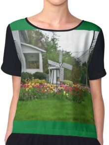 Tulip and Windmill Garden Chiffon Top