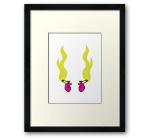 2 hands joint smoking drugs sports Framed Print