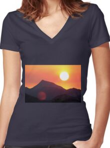 The Smoke from a Distant Fire Women's Fitted V-Neck T-Shirt
