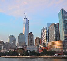 Lower Manhattan NYC...East River Side at Sunset by Poete100
