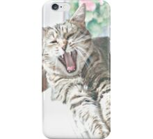 Yawning Cat iPhone Case/Skin