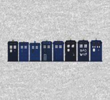 TARDIS Lineup Kids Tee