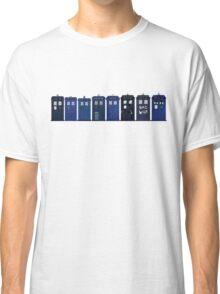 TARDIS Lineup Classic T-Shirt