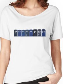 TARDIS Lineup Women's Relaxed Fit T-Shirt