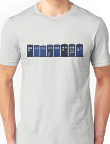 TARDIS Lineup Unisex T-Shirt