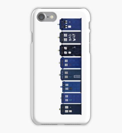 TARDIS Lineup iPhone Case/Skin