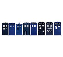 TARDIS Lineup Photographic Print
