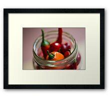 Chili Jar (1) Framed Print