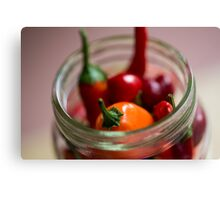 Chili Jar (1) Canvas Print