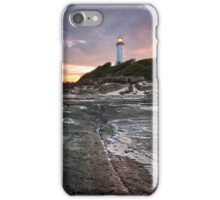 Norah heads lighthouse, sunset iPhone Case/Skin