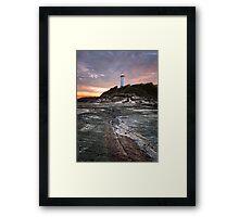 Norah heads lighthouse, sunset Framed Print