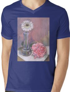 Pink Rose Cards, Pillows, and Tee Shirts Mens V-Neck T-Shirt