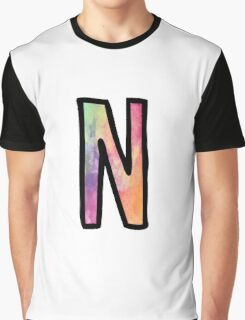 Letter N Graphic T-Shirt