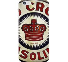 1920's Vintage Red Crown Gasoline Sign iPhone Case/Skin