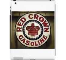 1920's Vintage Red Crown Gasoline Sign iPad Case/Skin
