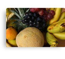 Fresh Fruit Basket Canvas Print