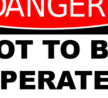 Danger Sign parody Sticker